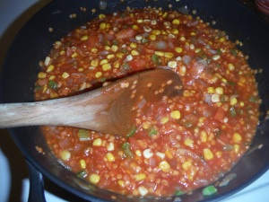 Enjoy the aroma! Stir from time to time to make sure your sauce it not too thick.