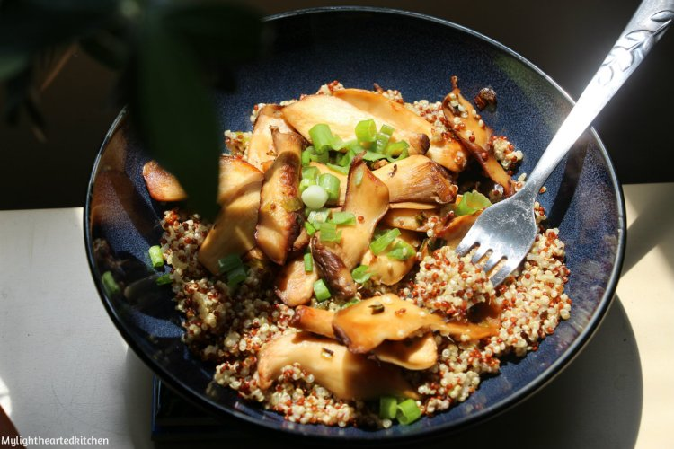 glazed-mushrooms-and-quinoa